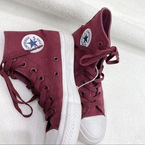 Converse chuck taylor 2 lunarlon burgundy high top